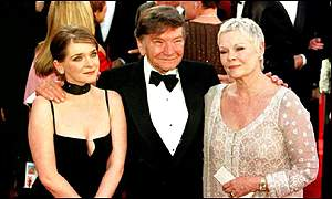 Michael Williams with Judi Dench and daughter Finty