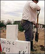 Gravestone of one of the victims of Argentina's millitary regime