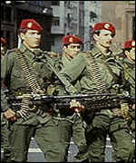 Argentine soldiers during the military regime