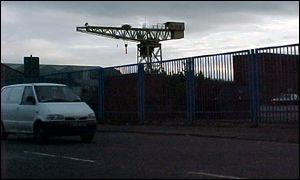 Scotstoun yard cranes, Glasgow