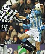 Ameobi and Breen clash