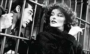 Cary Grant with Katharine Hepburn in Bringing up Baby