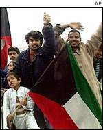 Celebrations at the liberation of Kuwait