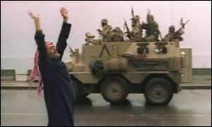 A Kuwaiti celebrates