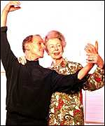 Dame Alicia Markova with Wayne Sleep