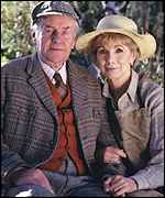 Susan Hampshire with co-star Richard Briers