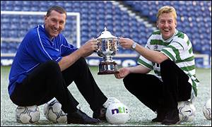 Old Firm old foes: Terry Butcher and Frank McAvennie