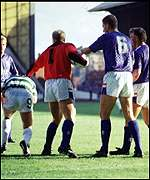 The ugly scenes from Ibrox 1987