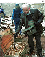 Bosnian experts have also been carrying out tests near Sarajevo