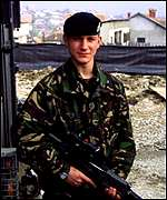 Soldier in Kosovo
