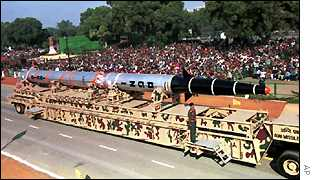 An earlier version of the Agni at India's Republic Day parade