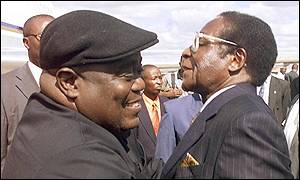 Presidents Kabila and Mugabe
