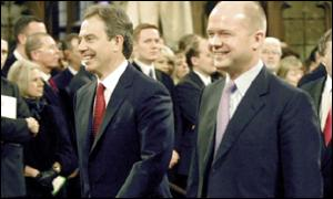 Prime Minister Tony Blair and Tory leader William Hague