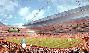 The former new Wembley Stadium