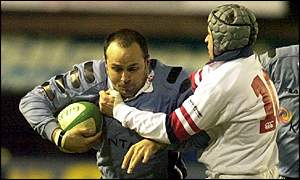 Pieter Muller in action against Ulster