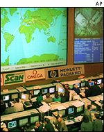 Space mission control centre outside Moscow
