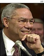 Colin Powell at Senate confirmation hearing