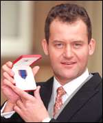Paul Burrell with his Royal Victorian Medal