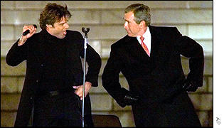 Ricky Martin and George W Bush