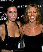 Courntney Cox-Arquette and Jennifer Aniston