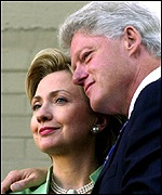 Sen. Hillary Rodham Clinton and former President Clinton