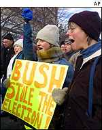 Anti-Bush protestors