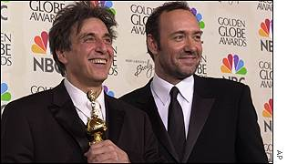 Kevin Spacey helps Al Pacino celebrate his lifetime achievement award