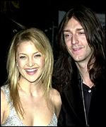 Hudson with her husband Chris Robinson