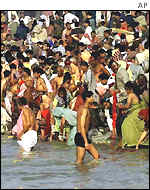 Bathing at Ganges