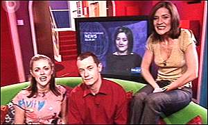 Donna Air, Paul Tonkinson and Amanda Byram