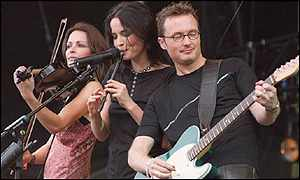 Sharon, Andrea and Jim Corr at Party In The Park, London