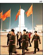 police on Tiananmen Square