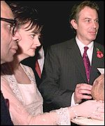 Srichand Hinduja, Cherie and Tony Blair