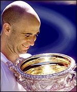 Agassi is now the tenth most successful player in the history of men's tennis