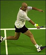 Andre Agassi was by far the fitter of the two