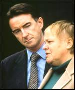 Peter Mandelson and his predecessor as Northern Ireland Secretary, Mo Mowlam.