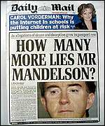 Media pressure mounted on Mandelson