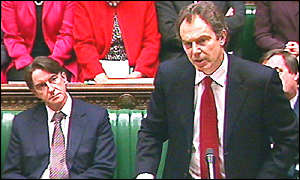 Blair and Mandelson in Commons