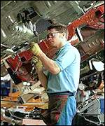Car worker at Sunderland plant