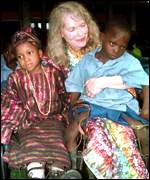 Mia Farrow in Nigeria