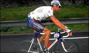 Max Sciandri in action during the 1998 Tour de France