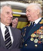 Major Dick Williams and Russian Army General Vasily Petrenko