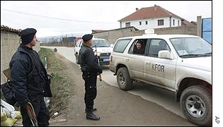 Ethnic Albanian checkpoint