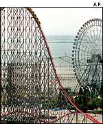 Steel dragon roller coaster in Japan