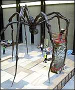 Steel spider artwork