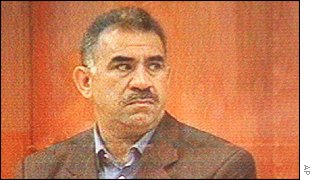 Ocalan at his trial