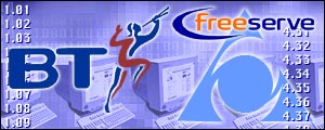 BT, Freeserve, AOL logos