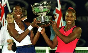 The Williams sisters were also victorious at the Sydney olympics