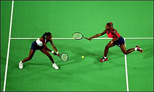 Venus and Serena won the French and US Open titles in 1999