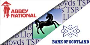 Abbey National Bank of Scotland and Lloyds TSB logos